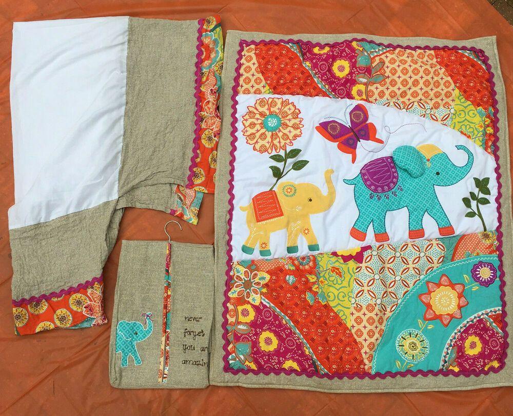 Levtex Baby Zahara Crib Blanket Quilt Diaper Stacker Dust