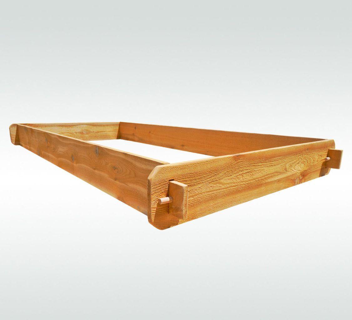 Natural Cedar Raised Garden Beds: Timberlane Gardens Raised Garden Bed Kit 3x6 All Natural