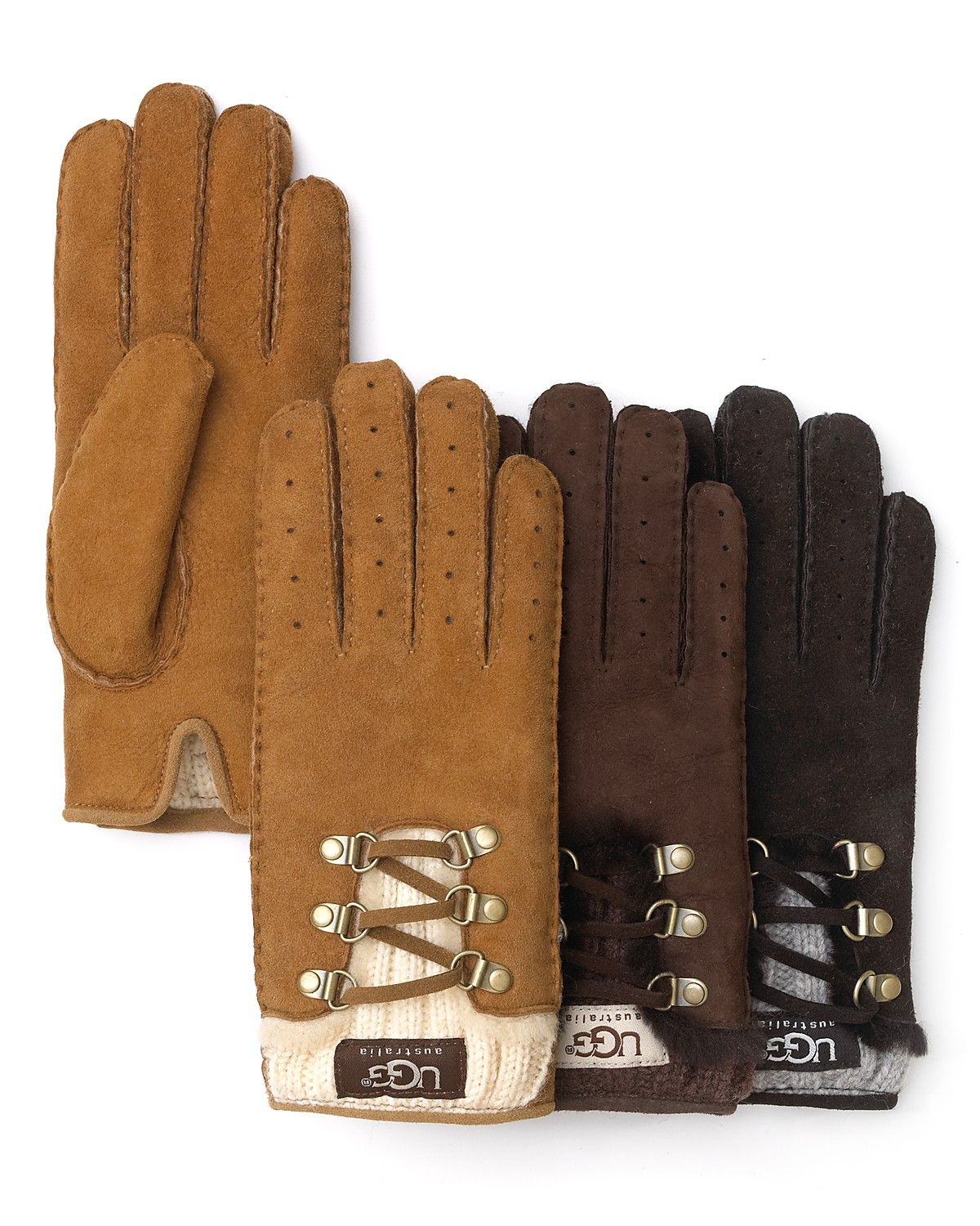 1f76f48a4ca UGG lace-up gloves | Wool & Leather | Ugg boots cheap, Uggs, Boots ...