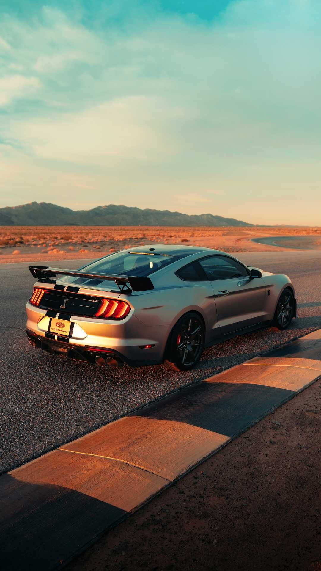 New 2020 Ford Mustang Shelby Gt500 Silver Side Carros De Luxo