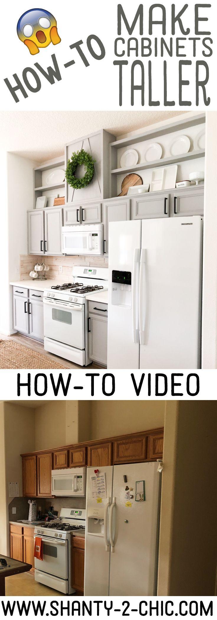 U küchendesign-ideen how to make cabinets taller  upgrade  pinterest  haus küchen