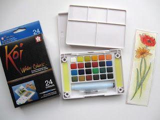 New Travel Watercolor Kit Watercolor Kit Koi Watercolor