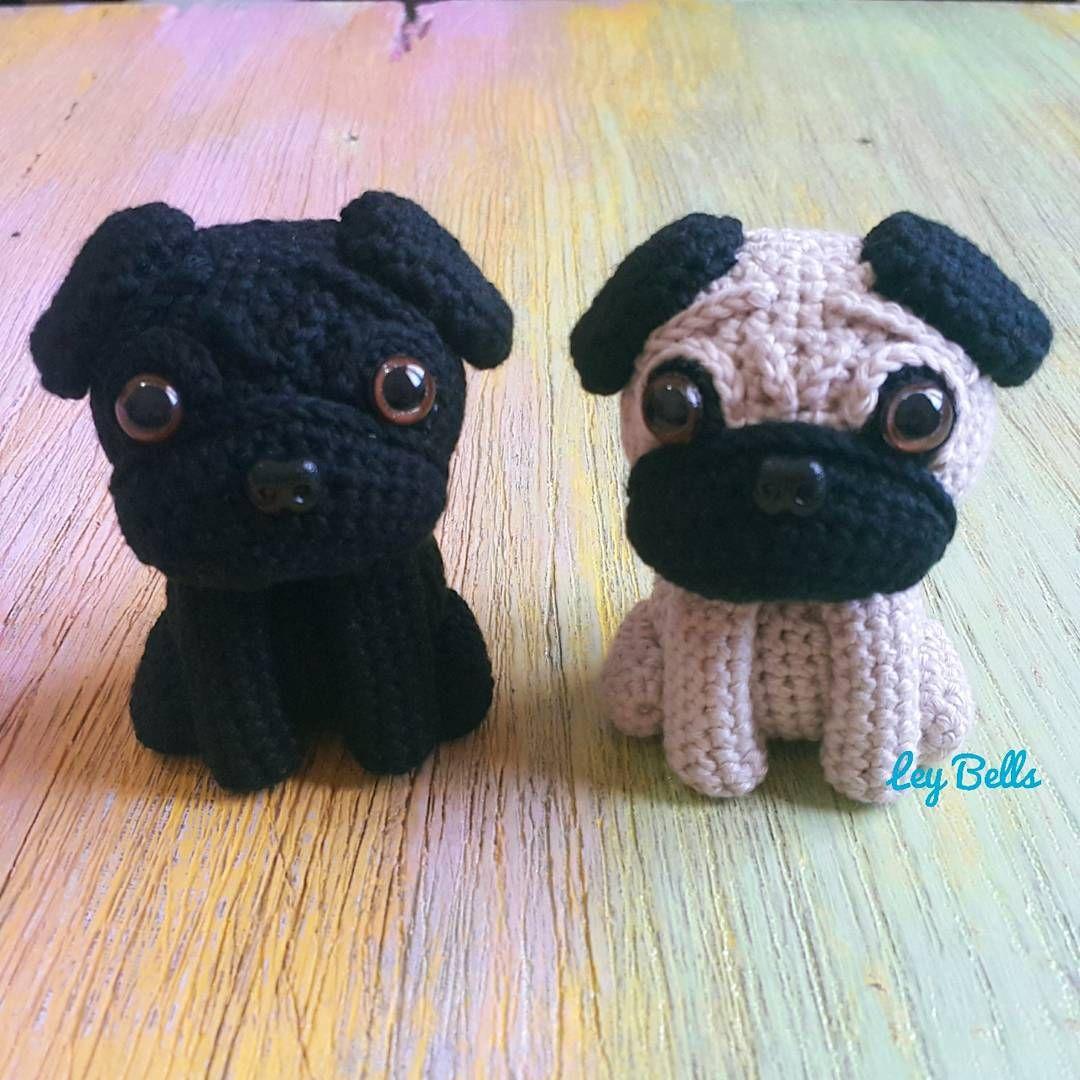 Amigurumi De Perrito Pug Tejido A Mano En Estambre Crochet ... | 1080x1080