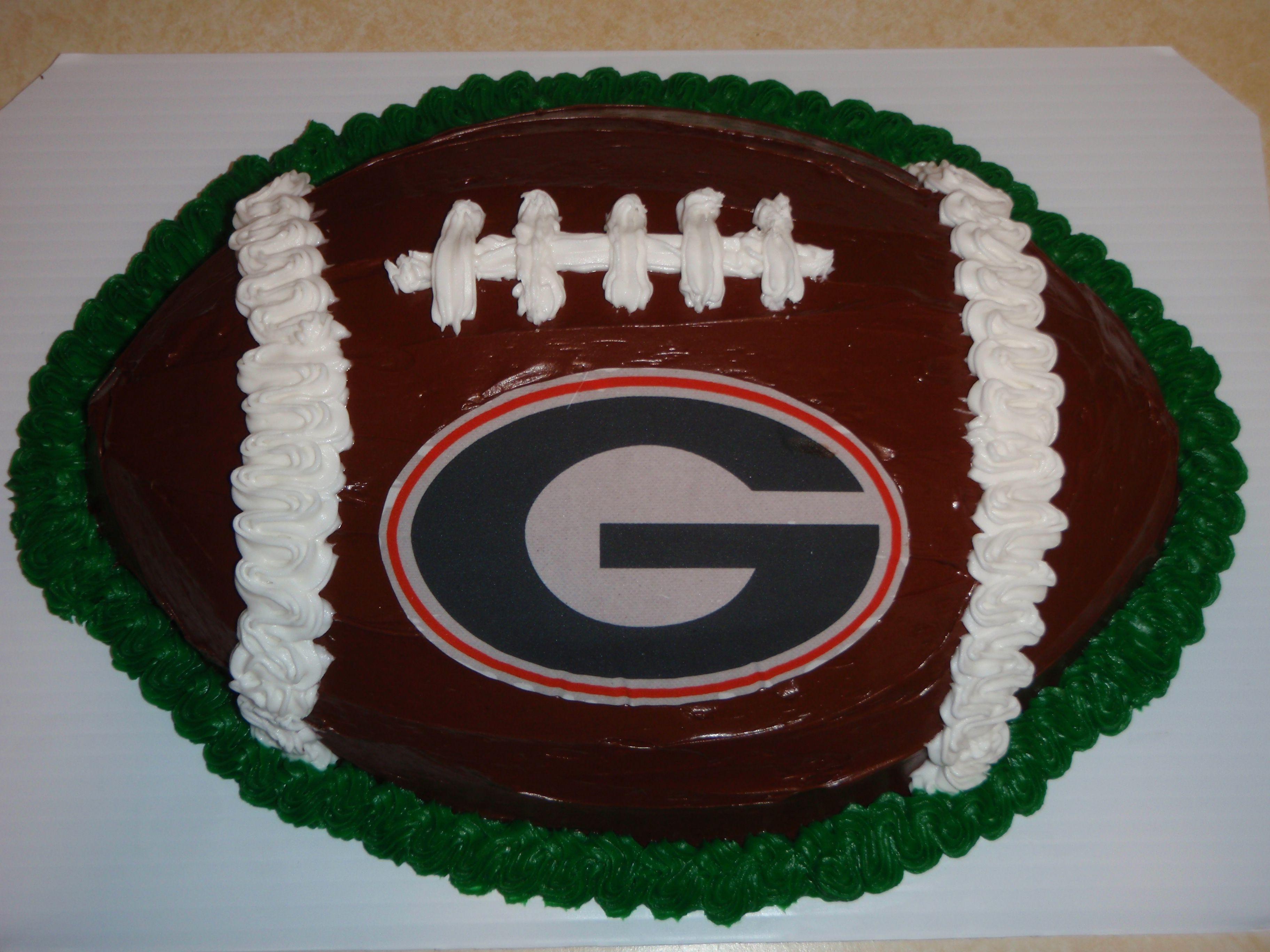 Georgia Bulldog Football Cake Best Ever