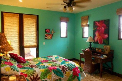 Teen bedroom design hawaiian