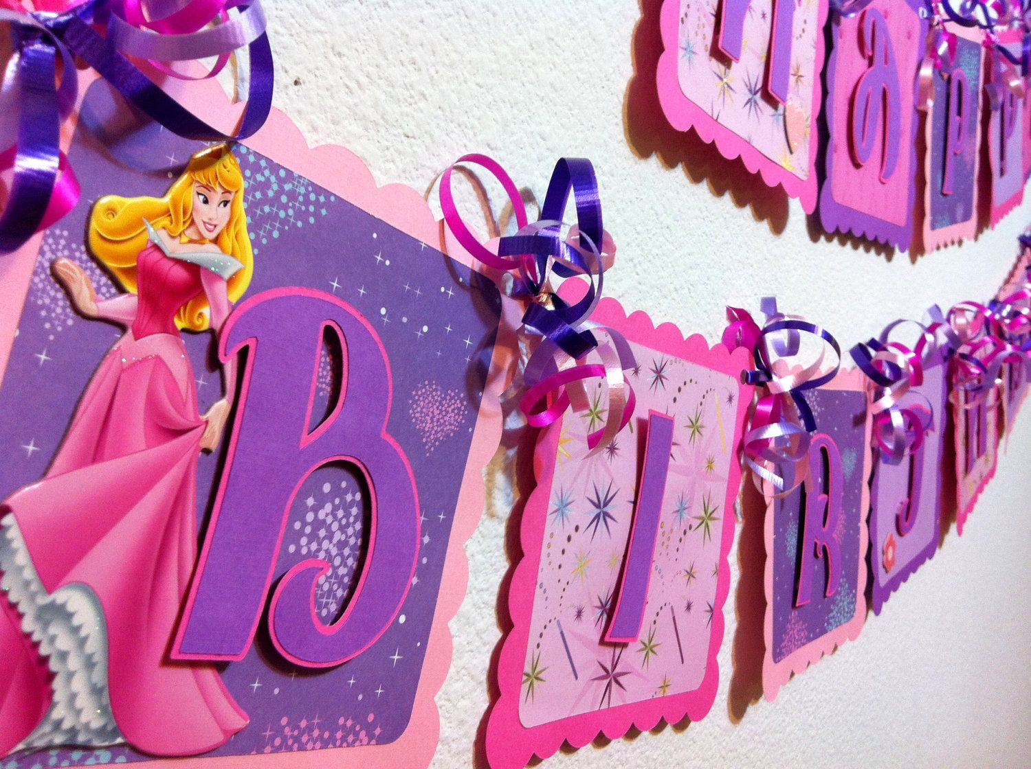Sleeping Beauty Birthday Banner 2800 via Etsy Sleeping Beauty