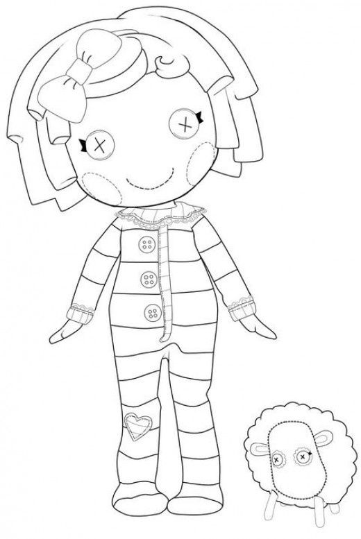 Lalaloopsy Pillow Coloring Sheet Cool Coloring Pages Lalaloopsy