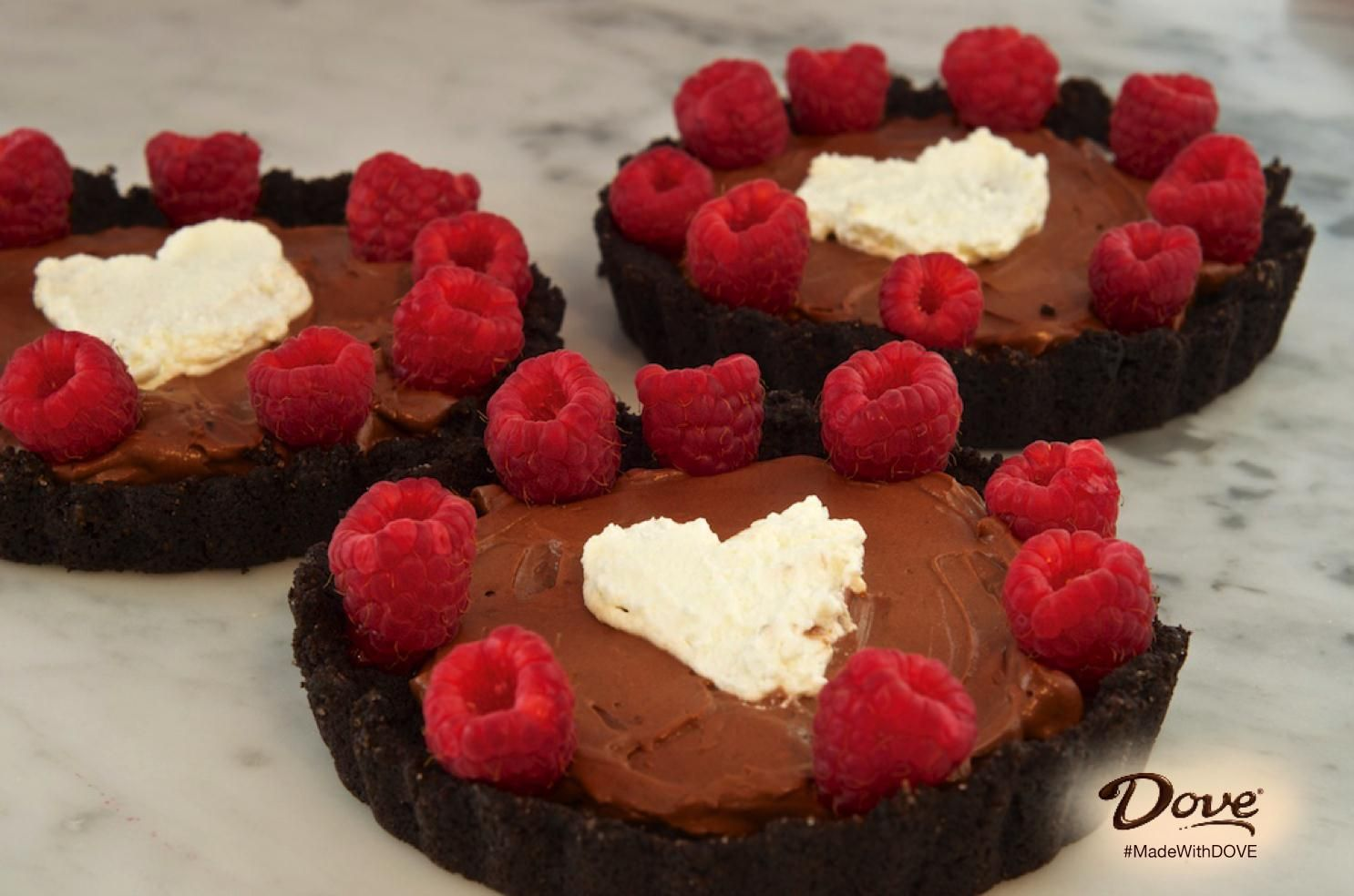 Heart summer with DOVE Chocolate Heart Tarts. #MadeWithDOVE