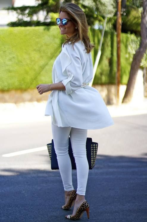 Navy, White And Brown Chic Style