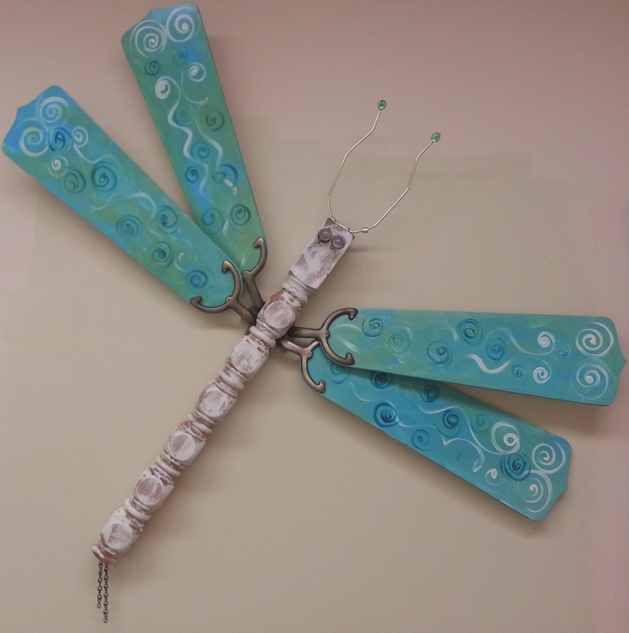 Ceiling fan dragonfly upcycle pinterest ceiling fan ceiling fan dragonfly aloadofball Choice Image