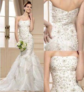 DIY Mermaid Style Wedding Gown