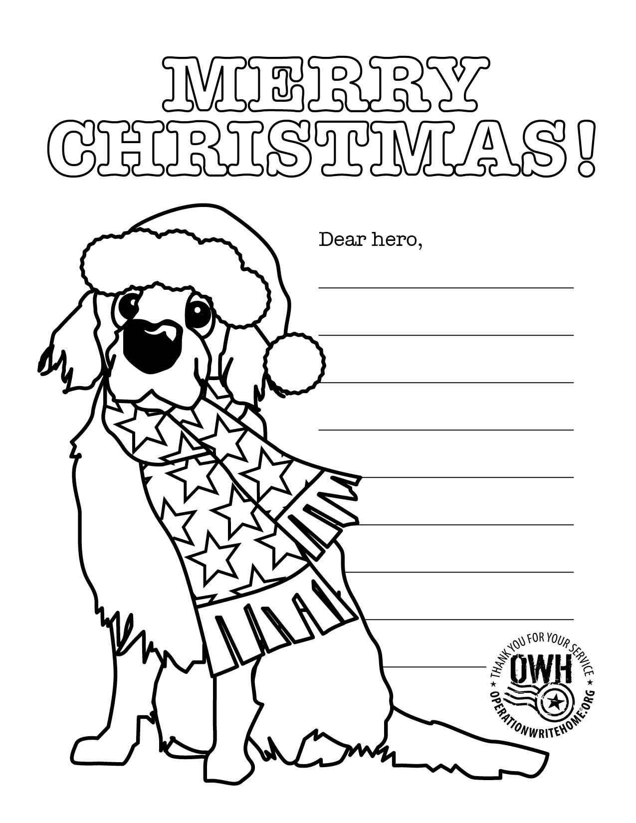 Coloring pages Operation Write