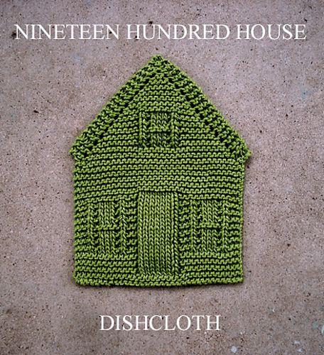 Farmhouse Kitchen Knitted Dishcloth: NINETEEN HUNDRED HOUSE DISHCLOTH Pattern By Amanda Ochocki