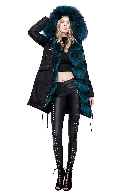 Nicole Benisti Jk11024b Madison Anorak Parka Down Winter Jacket Fox Fur Elbow Patch Coat At Amazon Women S Coats Shop Down Parka Women Anorak Parka Fur Fashion [ 1500 x 1000 Pixel ]