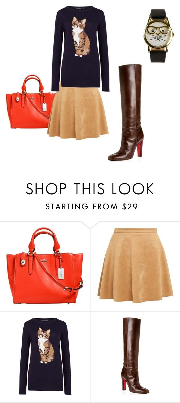 """Untitled #83"" by hebaamir ❤ liked on Polyvore featuring Coach, Sugarhill Boutique, Christian Louboutin, JFR, women's clothing, women, female, woman, misses and juniors"