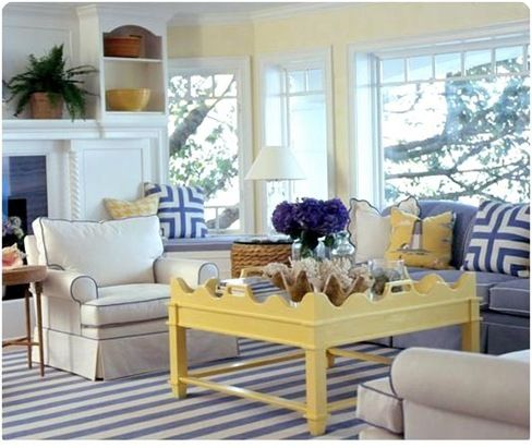 Coastal Living Yellow Coffee Table I 39 Ve Always Loved The Blue And Yellow Color Combo Dream