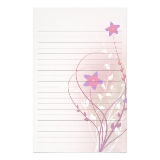 Elegant stationery paper