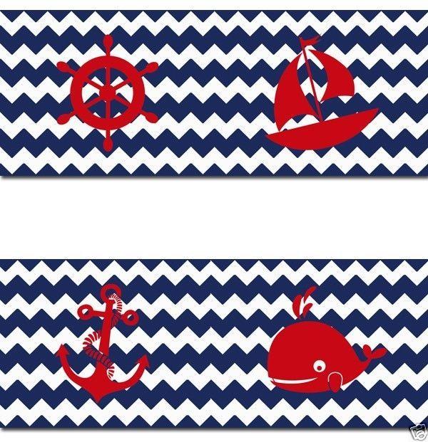 navy blue chevron nautical wallpaper border wall decals baby boy