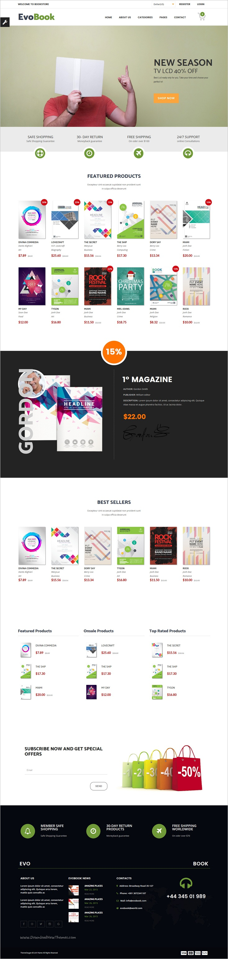 Evobook Multi Purpose Ecommerce Template Ecommerce Template And