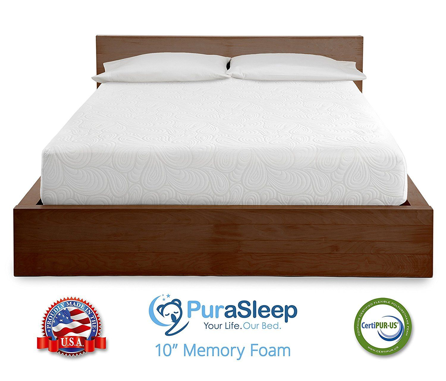 purasleep 10 cool flow deluxe gel enhanced memory foam mattress