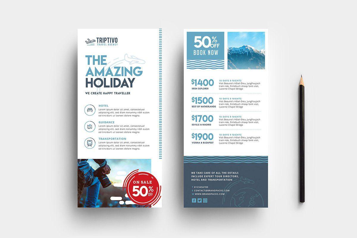 Travel Company Templates Pack Travel Companies Rack Card Rack Card Templates