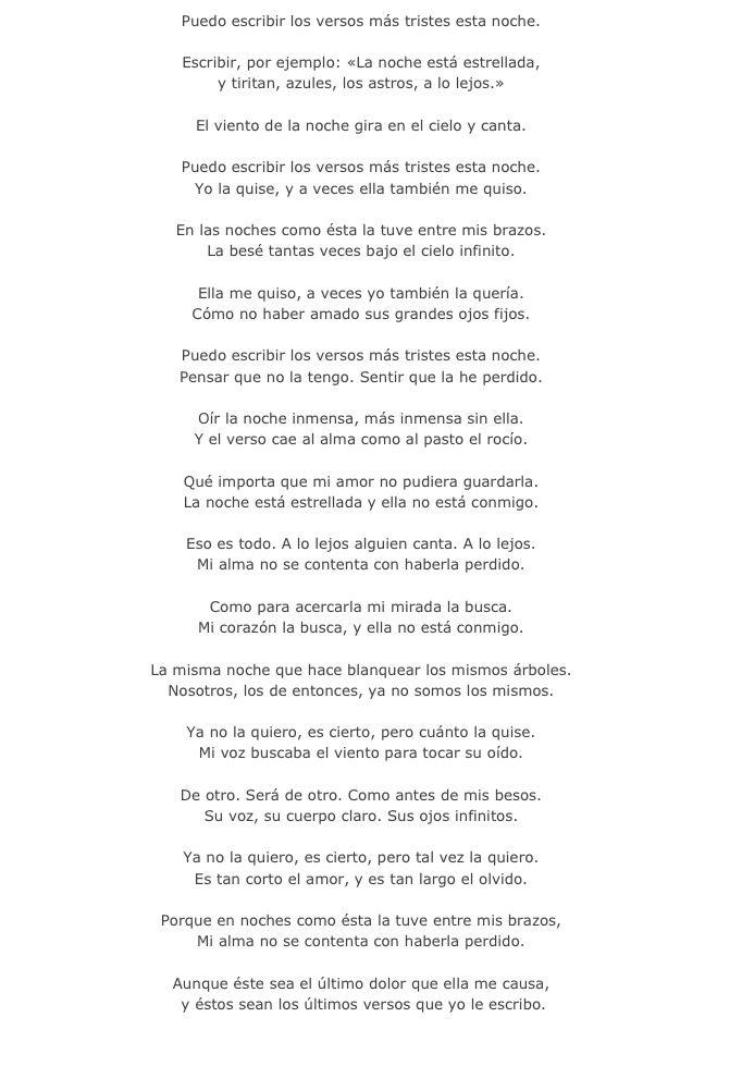 Pin De Nieves En Ok Puedo Escribir Los Versos Versos Tristes Versos