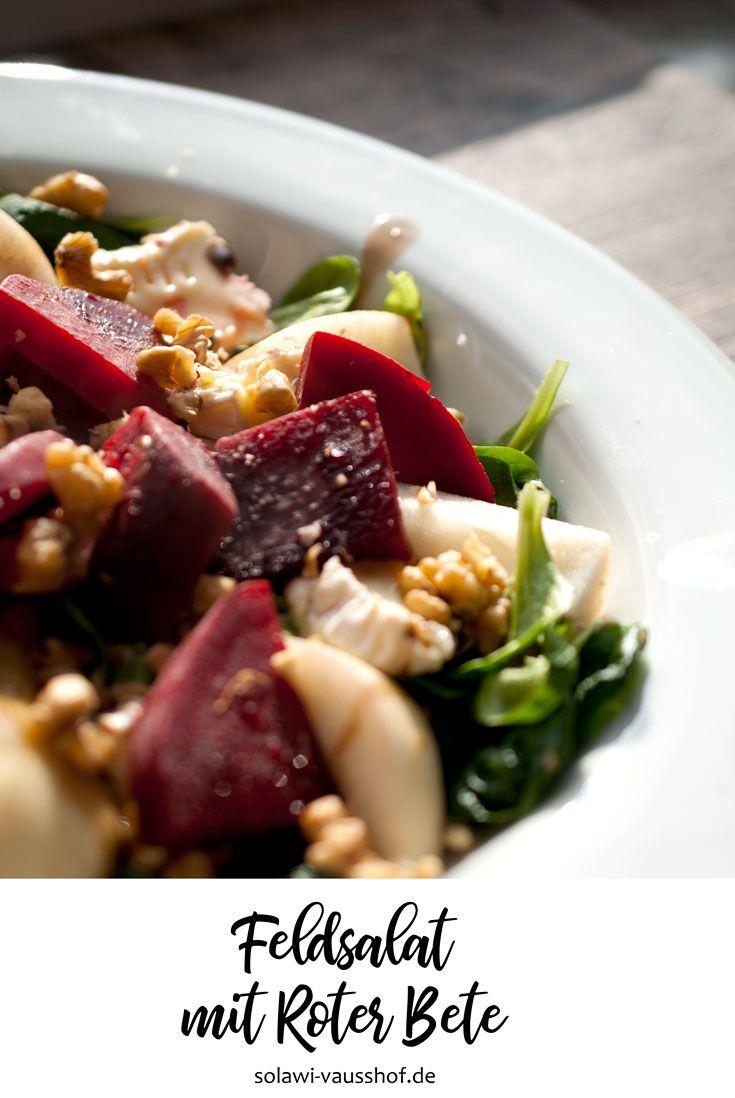 Winterlicher Feldsalat mit Rote Bete