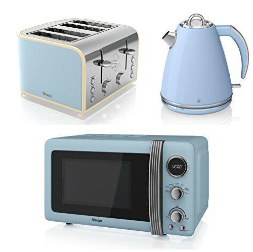 Swan Kitchen Liance Retro Set 20l Blue Microwave 1 5l Jug