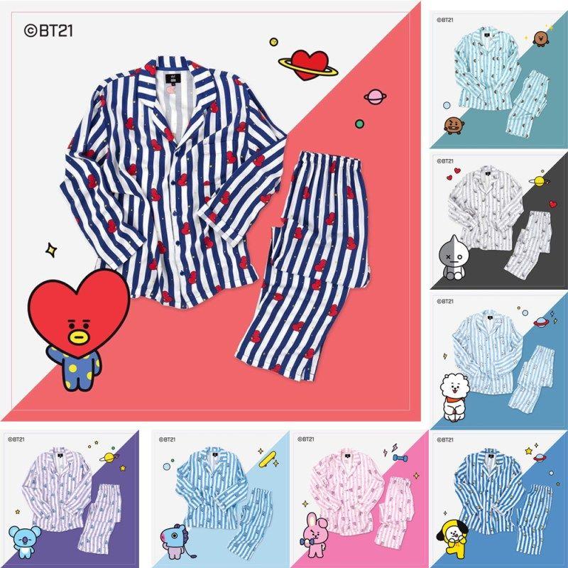 Men's Pajama Sets Bt21 Bts Kawaii Cartoon Cotton Pajama Sets K Pop Bangtan Boys Korean Style Fashion Love Yourself Answer V Rm Jin Rm Jin Jungkook Fashionable Patterns