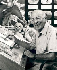 Friz Freleng, American animator, cartoonist, director and producer. Born Isadore Freleng, he started going by Friz, (the nickname given to him because his hair was so frizzy), as he felt his real name was too German...given the post World War II climate. Friz helped develop Looney Tunes great, including Bugs Bunny, Tweety Bird, Sylvester the cat, Yosemite Sam and Speedy Gonzales. Later in his career he brought us The Pink Panther Show. Friz is one of the great fathers of animation.