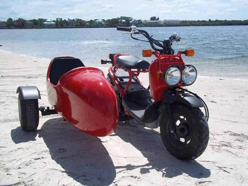 Honda Ruckus with sidecar | Scooters | Honda ruckus, Honda