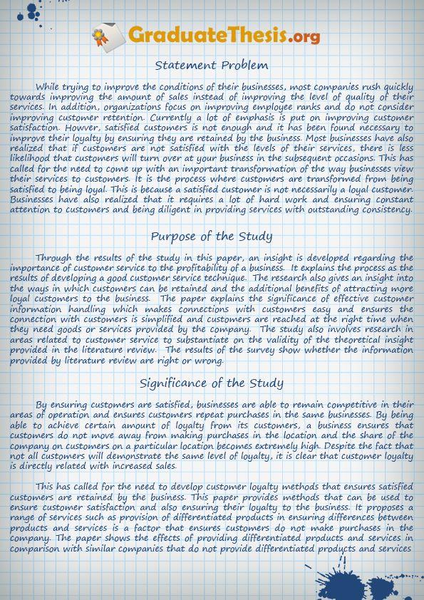Business student graduate dissertation