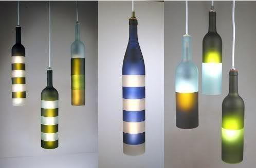 Recicla botellas en lámparas de auténtico diseño Fun diy and Bottle