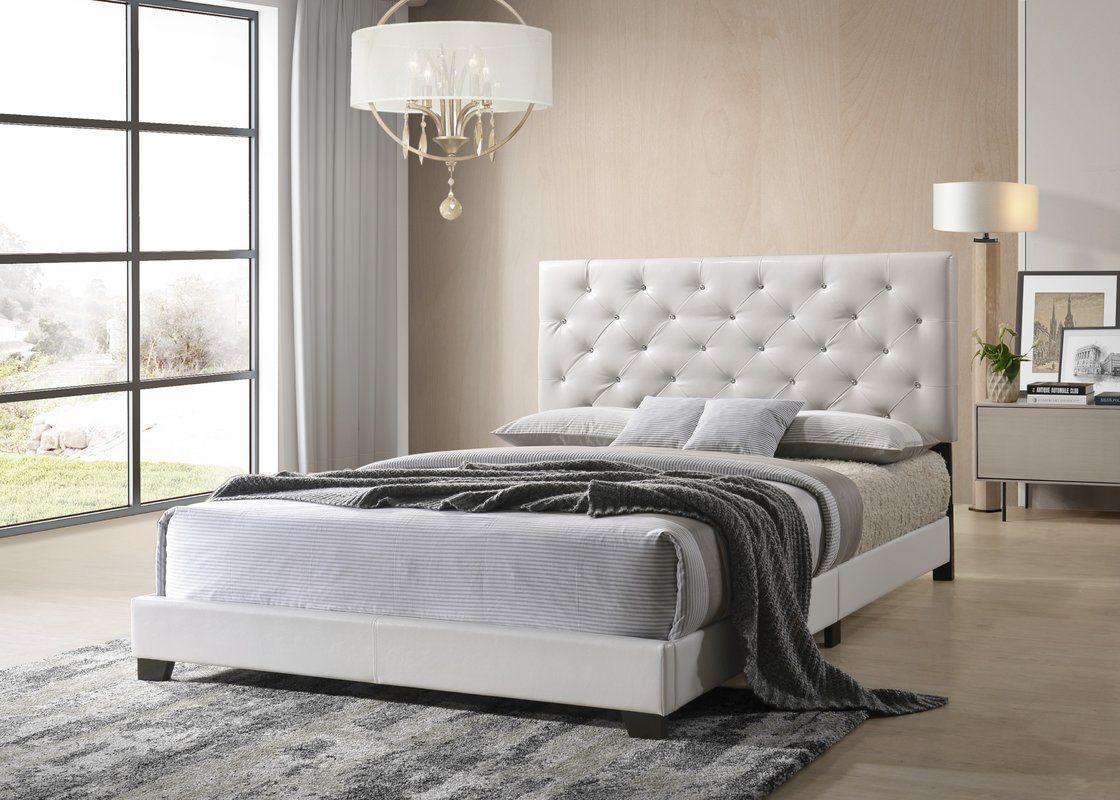 Ridenhour Diamond Upholstered Standard Bed Upholstered Panel Bed