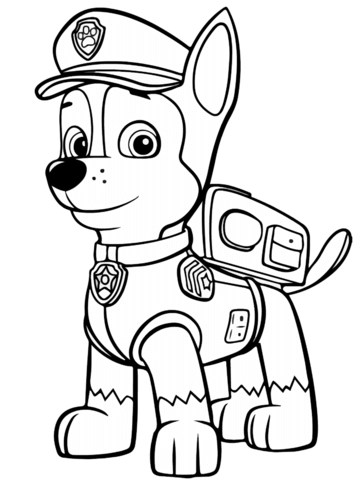 Paw Patrol Chase coloring page. Categories: PAW Patrol. Free ...
