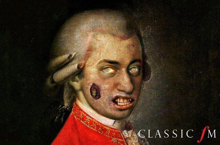 【萬聖節特輯:音樂家們怎麼慶祝萬聖節呢?莫札特打扮成魔笛殭屍 (Zombieflöte)】♩.♪