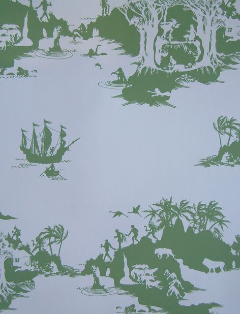 Peter Pan Comes To Life On This Wallpaper. A Sophisticated Choice For A  Boyu0027s Bedroom #wall Library