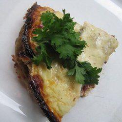lamb moussaka, loveee greek food.