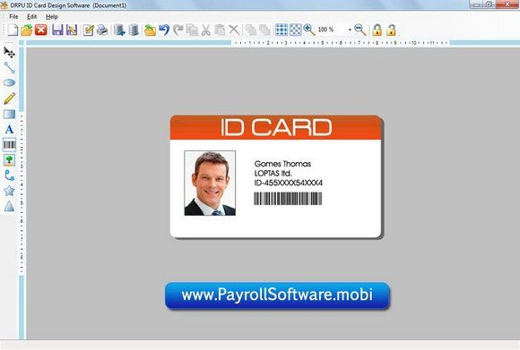 Realistic Id Card Maker Application Includes Distinct Designing Objects Including Line Image Text Pencil Barcode R Employee Id Card Card Maker Card Design