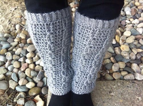 Penelope Rae Cabled Crochet Leg Warmers Free Pattern Create