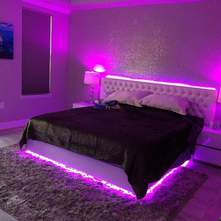 Led lights bedroom bed