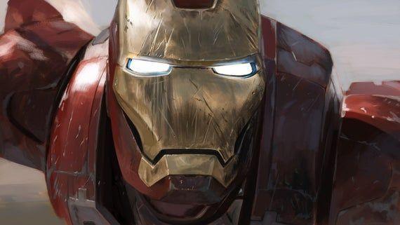 Iron Man Robert Downey Jnr Movie Film Canvas, Canvas Wall Art
