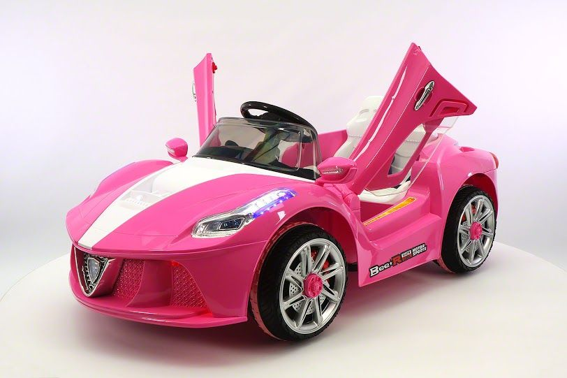 Pink Ferrari Spider Kids Ride On Car Battery Powered Wheels Parental Remote Control Mp3 Usb Player Girls Ferrari Pink Ferrari Ferrari Spider Kids Ride On