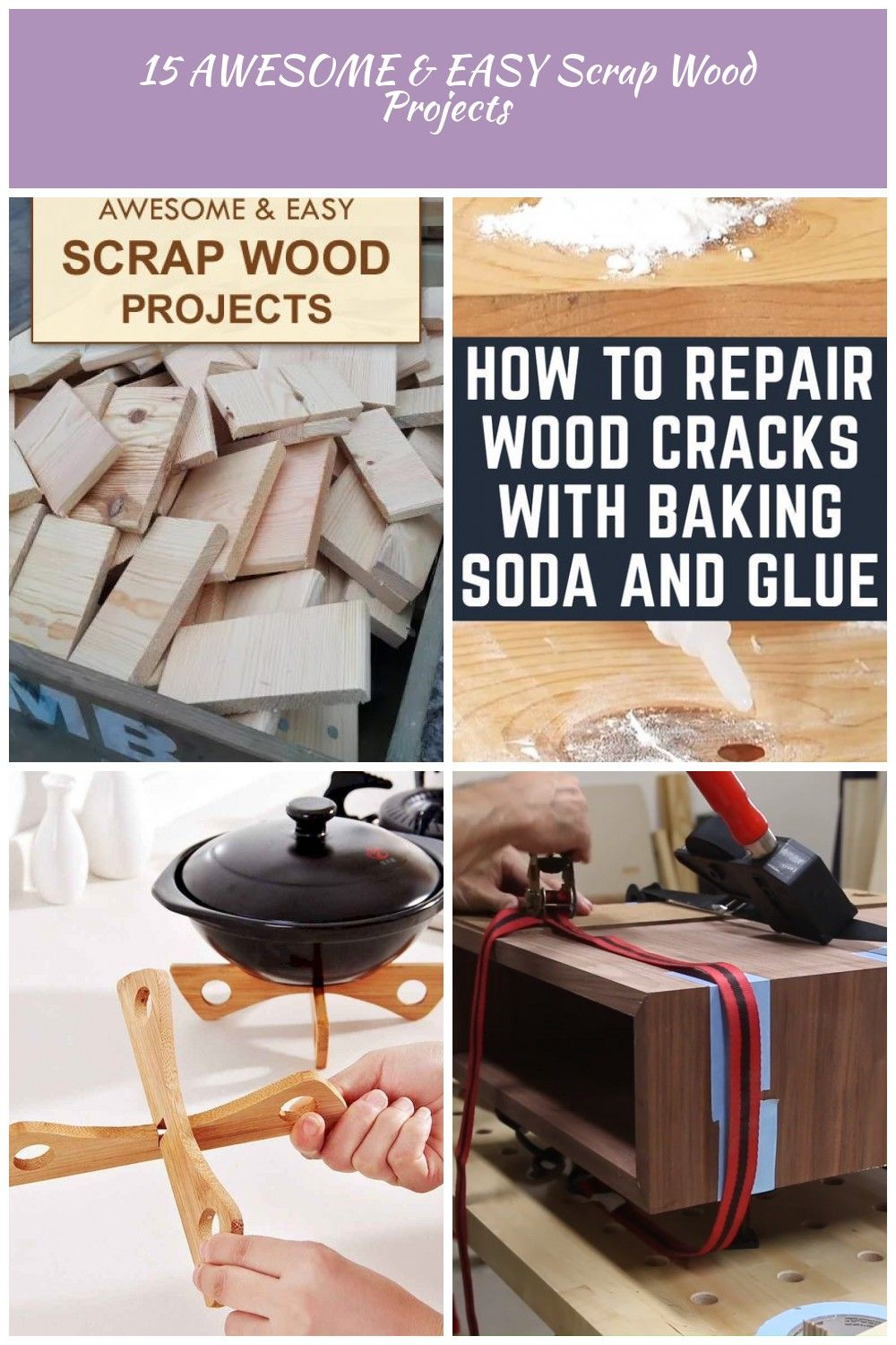 15 Awesome And Easy Scrap Wood Projects Woodworking 15 Awesome Easy Scrap Wood Projects Scrap Wood Projects Wood Projects Woodworking Projects