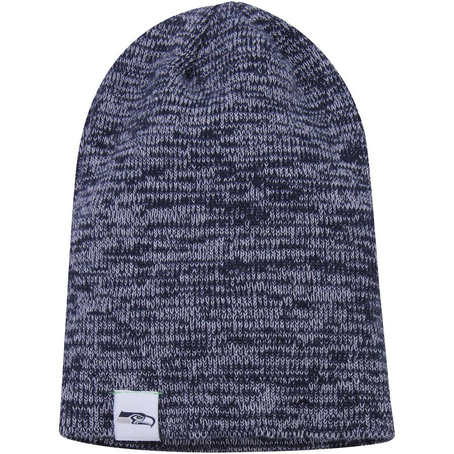 buy popular 6202b 777a7 ... shopping womens seattle seahawks new era college navy team blend slouch  knit hat your price 23.99