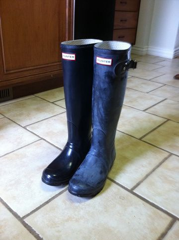 ed7dac7c1 Make your Hunter boots shiny again! | Cleaning | Hunter boots, Boots ...