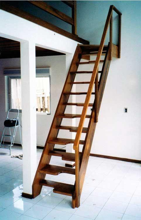 Escasa Santos Dumont Loft Pinterest Escalera, Casas y - escaleras de madera rusticas