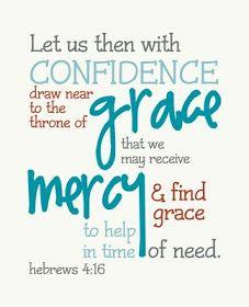 My Messy Manger: Free Printable Scripture- Hebrews 4:16