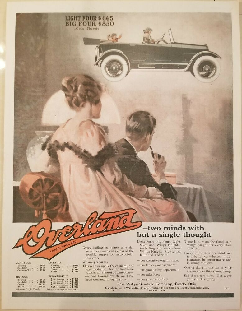 Willys Overland 16 Print Ads