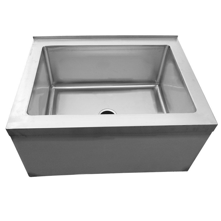 Regency 33 16 Gauge Stainless Steel One Compartment Floor Mop Sink 28 X 20 X 12 Bowl Mop Sink Sink Restaurant Sink